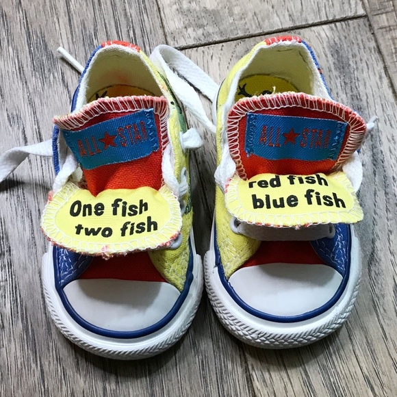 CONVERSE DR SEUSS one fish toe fish rare 3